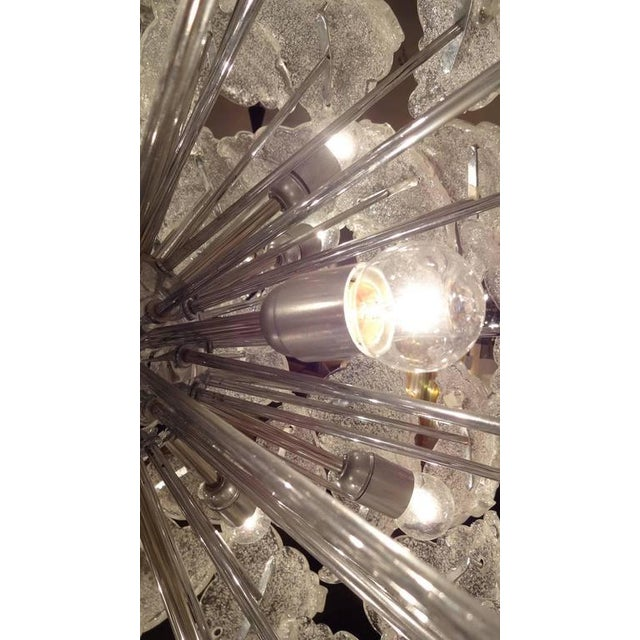 1960s Mazzega Very Large-Scale Mid-Century Glass Sputnik Chandelier Italy circa 1960 For Sale - Image 5 of 10