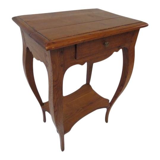 Antique Oak Side Table - Image 1 of 7