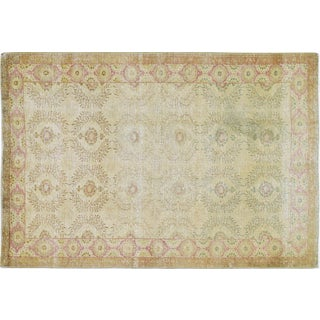 """Vintage Turkish Anatolian Hand Knotted Organic Wool Fine Weave Rug,4'1""""x5'11"""" For Sale"""