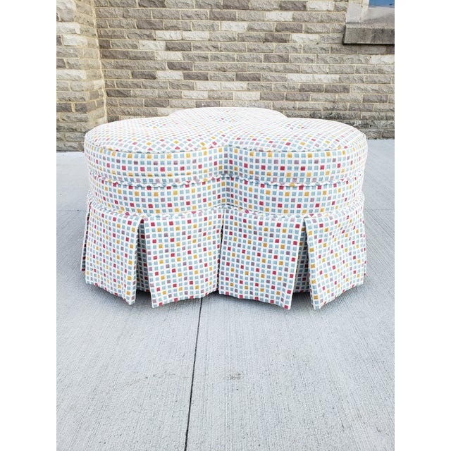2010s Contemporary Clover Form Ottoman For Sale - Image 5 of 13