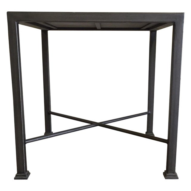 Custom Iron and Wood Side Tables - A Pair - Image 4 of 6