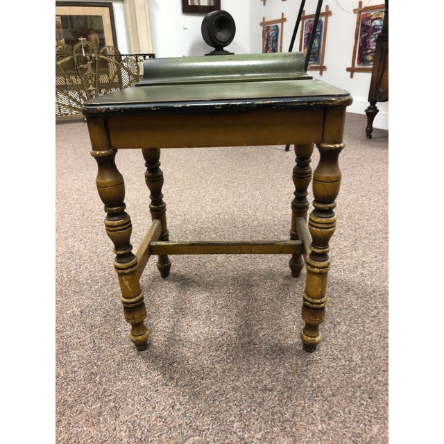 1920s Americana Green Wooden Telephone Table For Sale In New York - Image 6 of 11