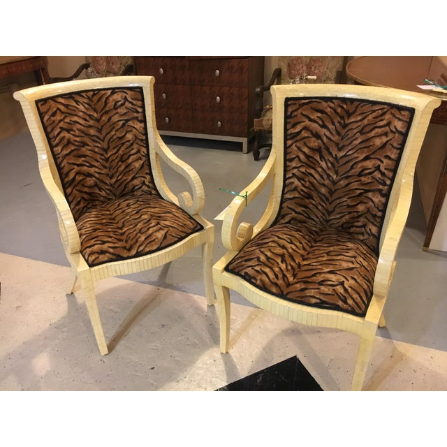 Enrique Garcel Bone Armchairs - A Pair For Sale In New York - Image 6 of 8