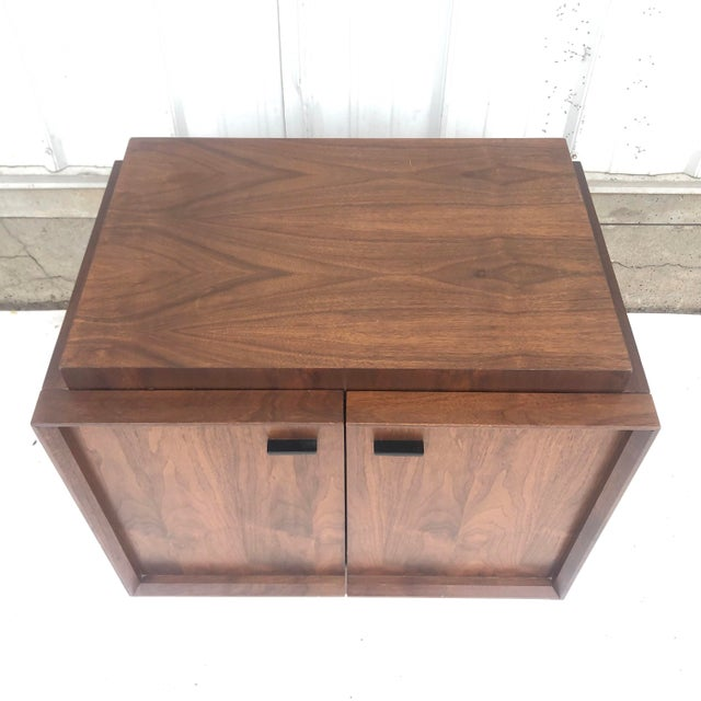 1960s Mid-Century Brutalist Nightstand For Sale - Image 5 of 13