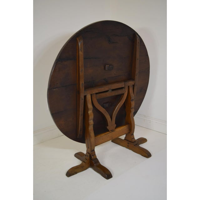 Oak 19th-Century French Oak Wine Tasting Table For Sale - Image 7 of 8