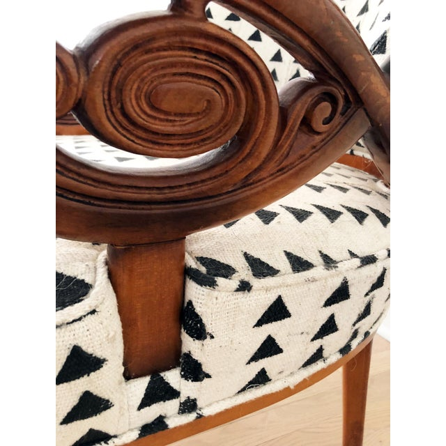 Vintage Black & White Upholstered Arm Chairs - A Pair For Sale In Chicago - Image 6 of 13