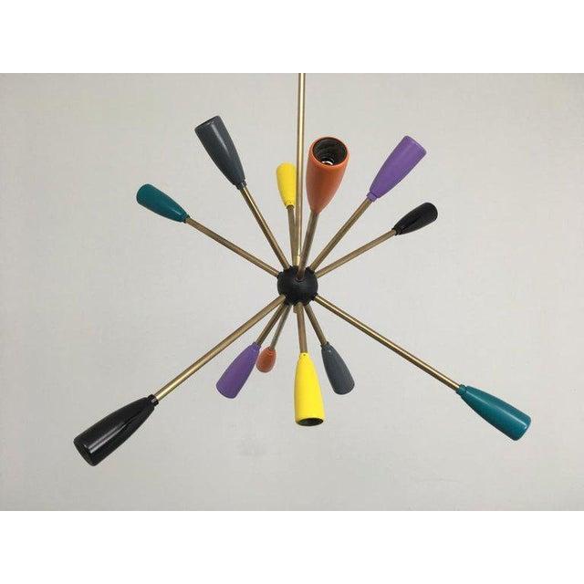 1950s Sputnik Pendant Chandelier Lamp in Different Colors For Sale - Image 10 of 12