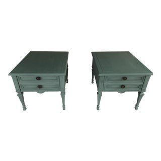 19th Century Italian Drexel Heritage Side Tables - a Pair For Sale