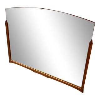 20th Century Mid Century Modern Wood Wall Mirror For Sale