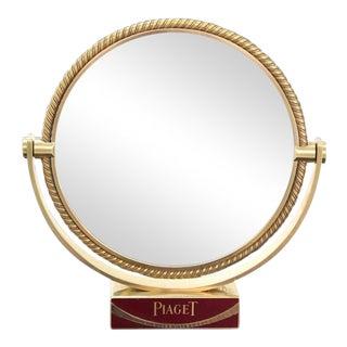 Swiss Solid Bronze Shaving Mirror For Sale