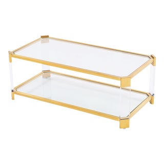 Blink Home Gold Cocktail Table For Sale
