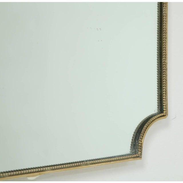 1950s Italian 1950s Brass Framed Mirror For Sale - Image 5 of 5
