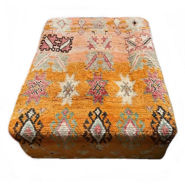 Orange Vintage Turkish Over Dyed Rug Tribal Ottoman For Sale - Image 8 of 8