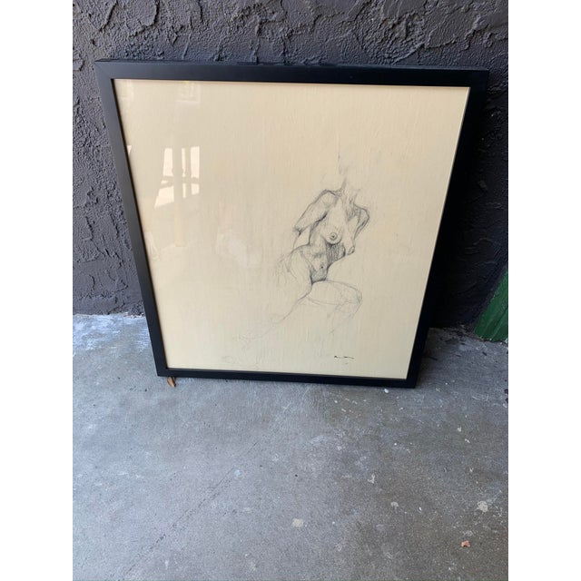 Contemporary Contemporary Female Nude Drawing For Sale - Image 3 of 5