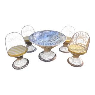 Woodard Fiberglass Patio Dining Set For Sale