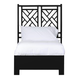 Chippendale Bed Twin Extra Long - Black For Sale