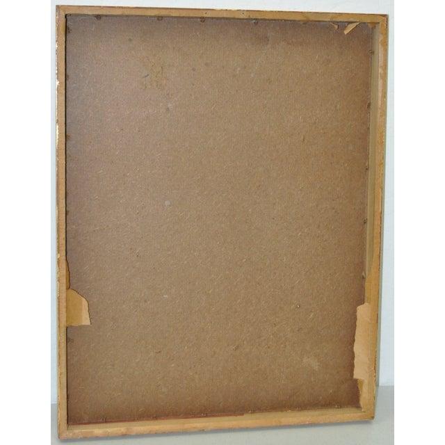 Vintage Pastel on Paper in Gilded Frame C.1950's - Image 6 of 6