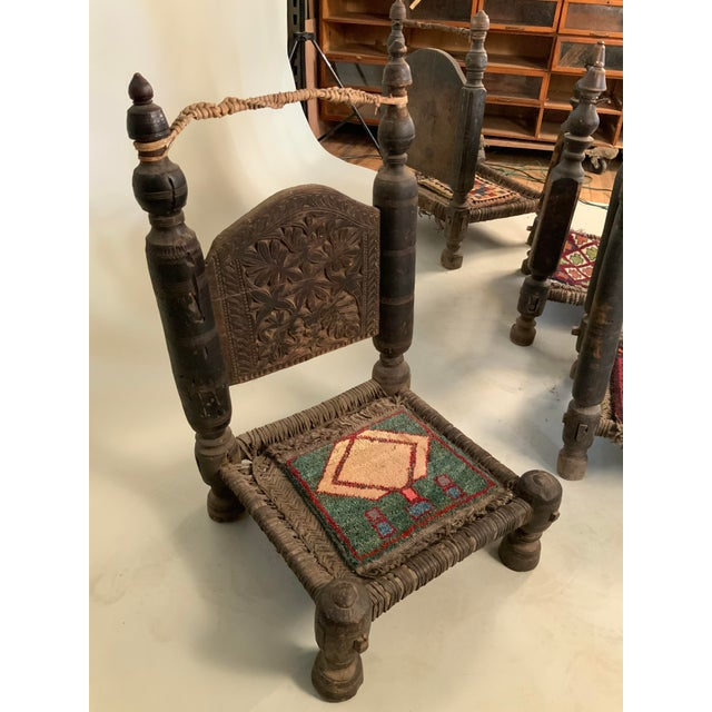 Wood 19th Century Tribal Bedouin Chairs - Set of 4 For Sale - Image 7 of 12