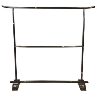 Black Japanese Edo Period Kimono Rack For Sale