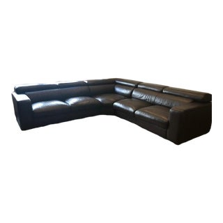 Cliff Young Brown Leather Sectional For Sale