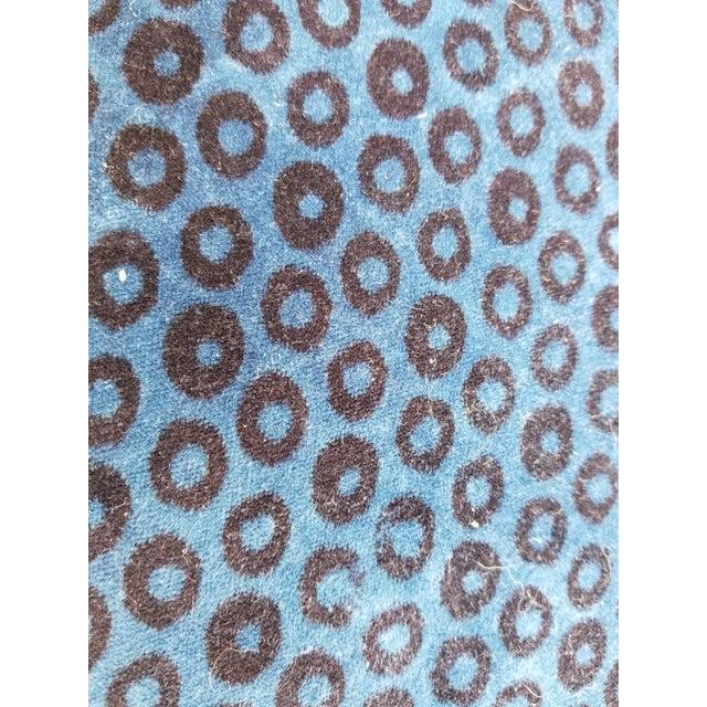 Boho Chic Antique Leopard Velvet Footstool For Sale - Image 3 of 6