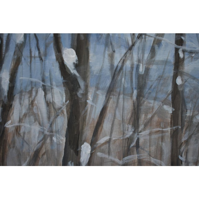 "Stephen Remick ""Snowy Mountains Through Bare Trees"" Contemporary Landscape Painting For Sale In Providence - Image 6 of 12"