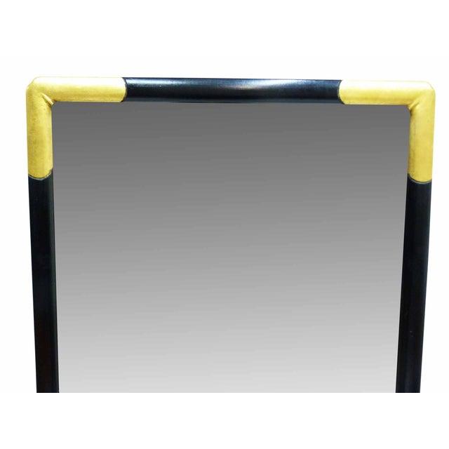 Hollywood Regency Milch & Son Vintage Black & Gilt Mirror For Sale - Image 3 of 9