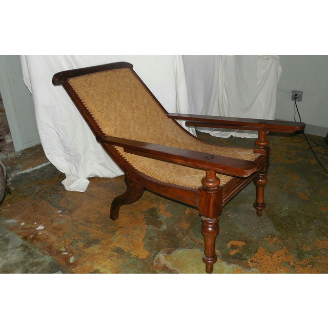 Boho Chic Antique Anglo-Indian Plantation Chair For Sale - Image 3 of 11