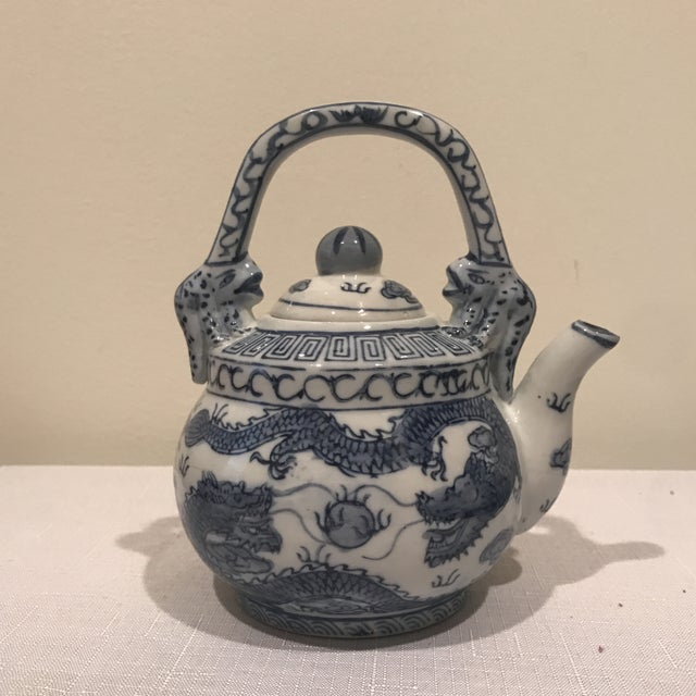 Blue & White Teapot For Sale In Greensboro - Image 6 of 6