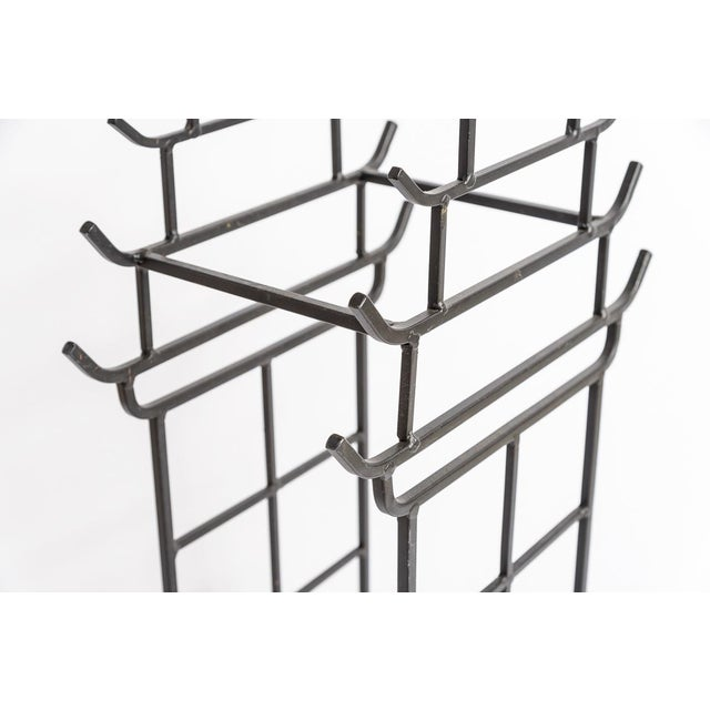 Chinoiserie Steel Pagoda Shape Umbrella Stand For Sale - Image 4 of 9