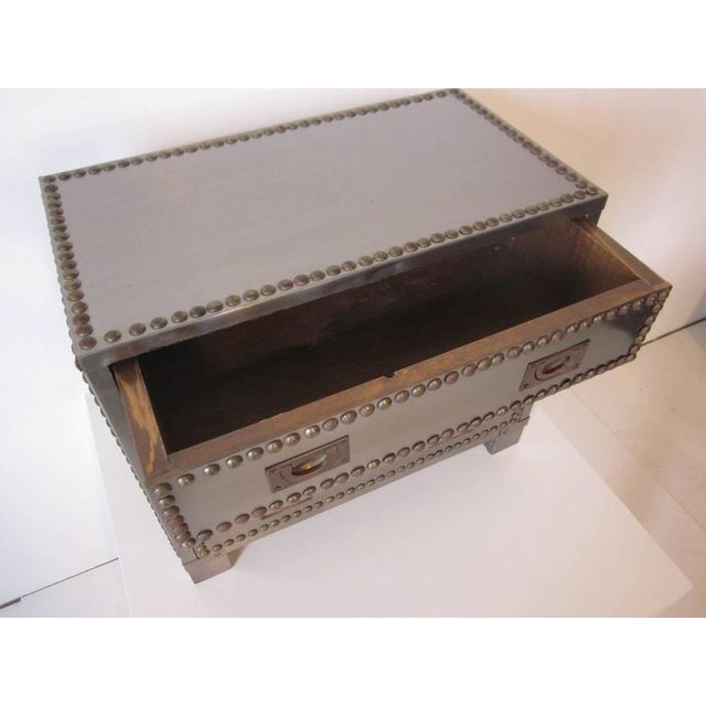 Stainless and brass Studded Jewelry Box For Sale - Image 4 of 8