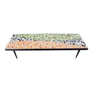 Mid-Century Modern Art Mosaic Top Long Rectangular Table Preview