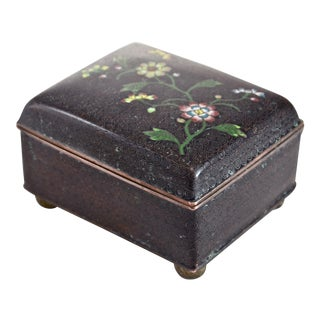 1920s Chinese Cloisonné Box For Sale