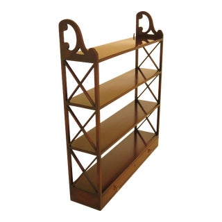 Kittinger Cw-28 Colonial Williamsburg Mahogany Hanging Shelf For Sale