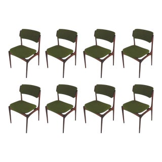 Mid-Century Modern Refinished Danish Erik Buch Rosewood Dining Chairs - Set of 8 For Sale