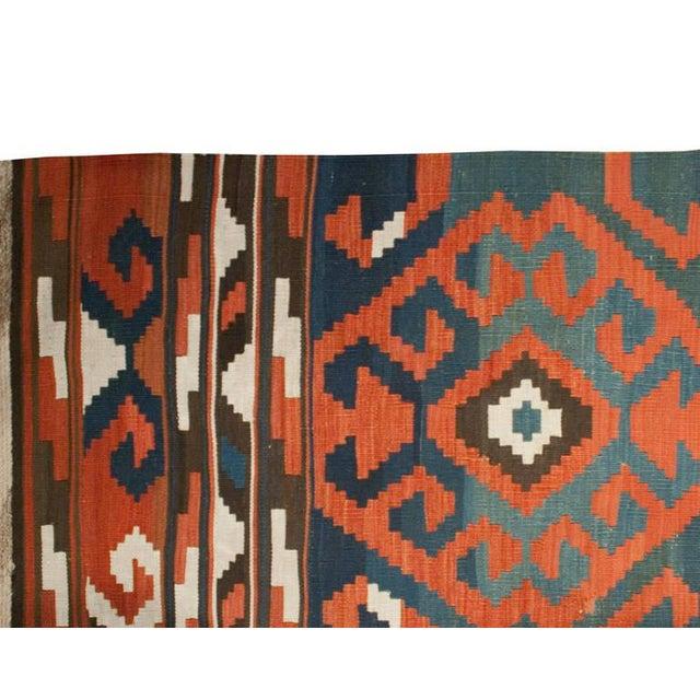 "Tribal 19th Century Shirvan Kilim - 84"" x 144"" For Sale - Image 3 of 3"