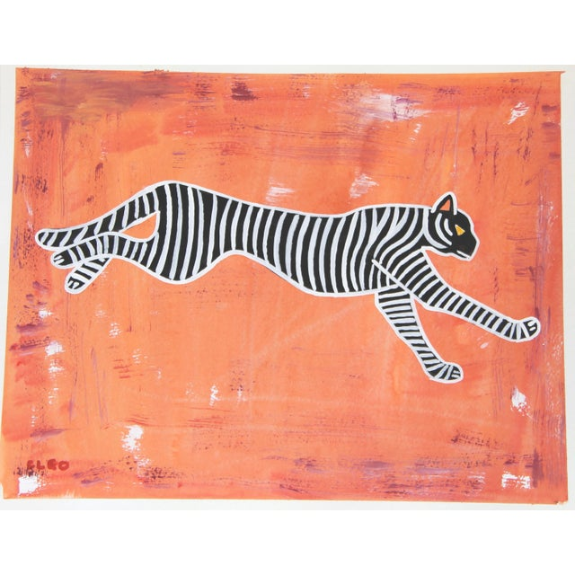 Abstract Leopard Chinoiserie by Cleo Plowden For Sale In New York - Image 6 of 7