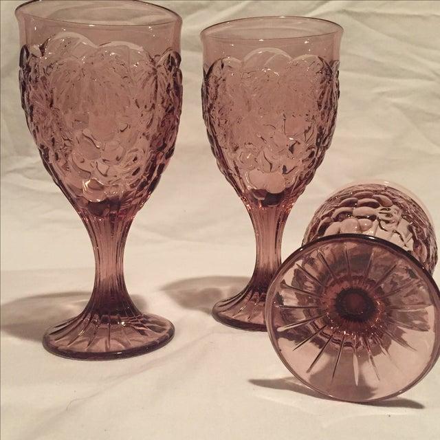 Amethyst Grape Motif Goblets - Set of 8 - Image 5 of 6