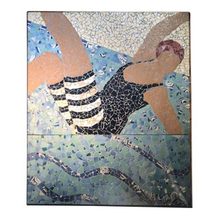 Italian Summer Tile Mosaic: The Diver For Sale