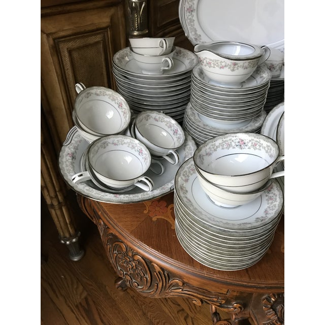 1960s Vintage Noritake # 5807 Edgewood Service for 12 Dinnerware - 94 Pieces,reduced Final For Sale - Image 5 of 12