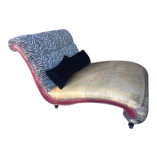 Vintage Leather Chaise Lounge