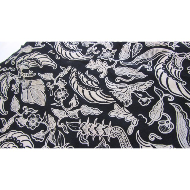 Black & Gold French Silk Damask Throw - Image 5 of 9