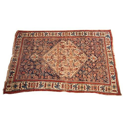 "Antique Bijar Area Rug - 5'4"" X 6'8"" - Image 1 of 10"