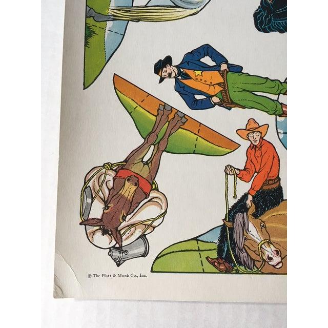 Vintage Cowboy & Indian Cut Outs - Uncut Sheet #3 For Sale - Image 4 of 4
