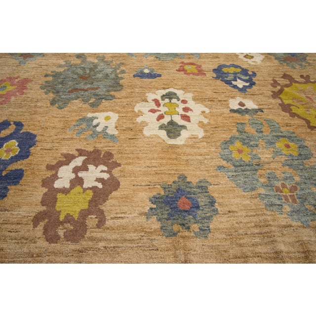 Colorful Turkish Oushak Rug - 8′3″ × 11′ For Sale - Image 4 of 7