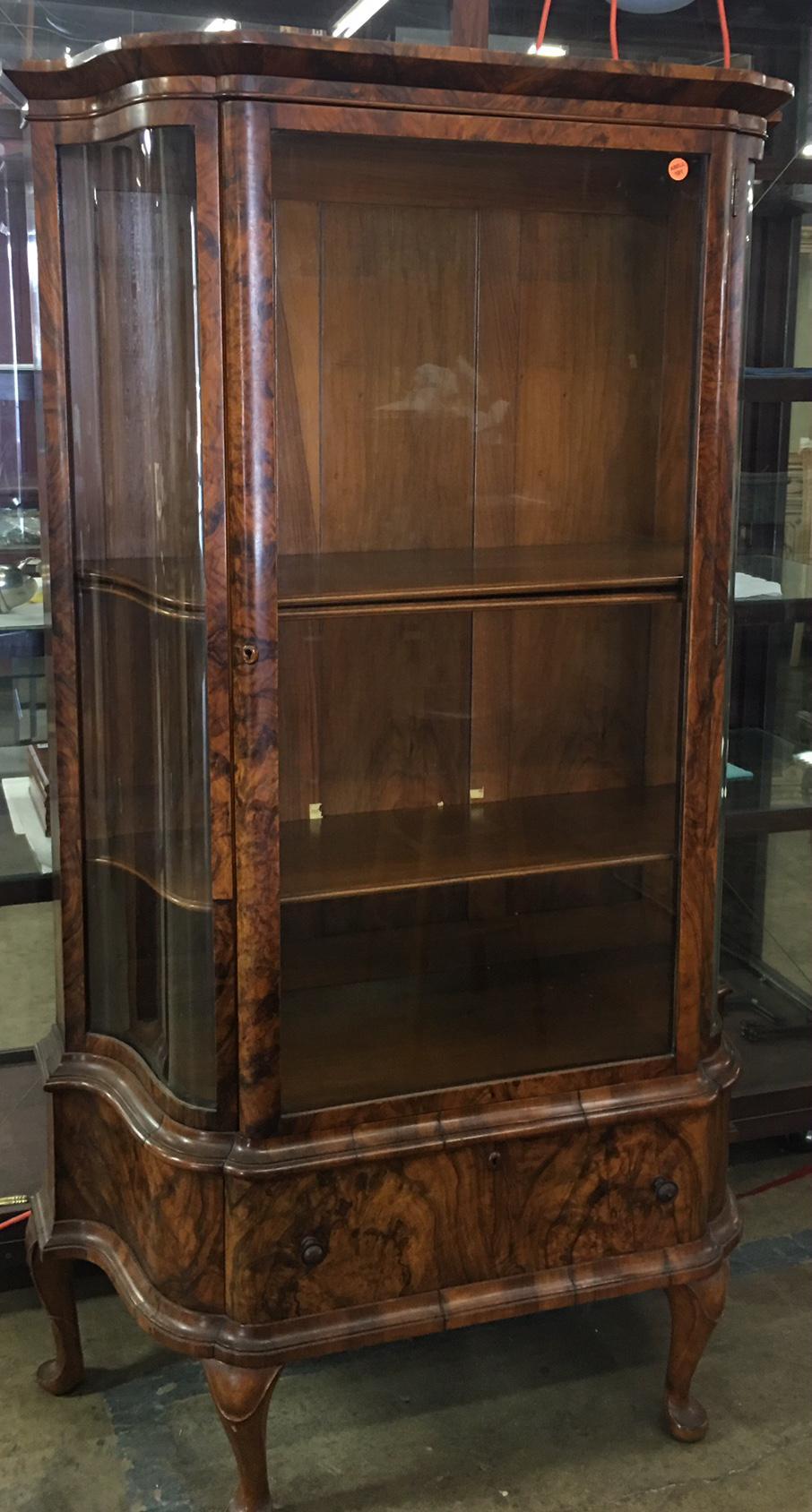 Biedermeier Antique Biedermeier Style Vitrine Cabinet W Exotic Mahogany For  Sale   Image 3 Of 5