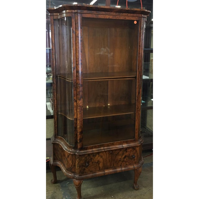 Antique Biedermeier Vitrine Cabinet w Exotic Mahogany - Image 3 of 5