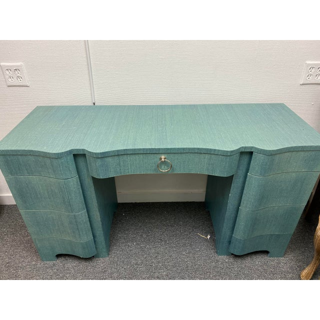 This desk is the perfect piece for any room. The desk is an excellent source of color and fun! -55w x 20d x 30h -Lacquered...