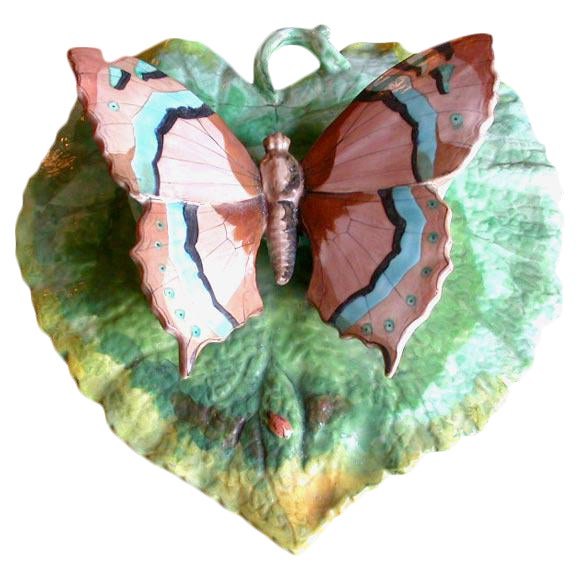 Butterfly Porcelain Wall Pocket For Sale
