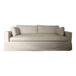 Restoration Hardware Belgian Track Arm Slipcovered Sofa